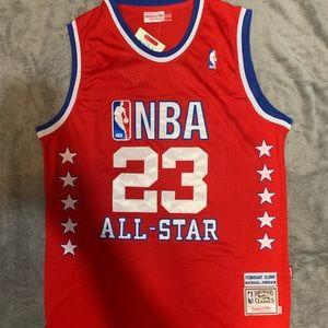 Michael Jordan 23 NBA All Star Red Jersey